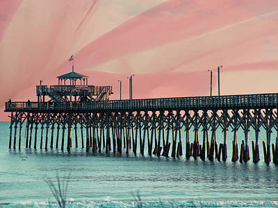 Photograph - Cherry Grove Fishing Pier by Trish Tritz