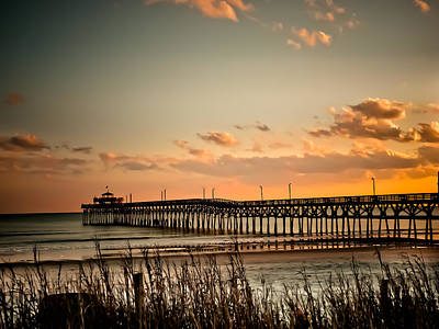 Beach Photograph - Cherry Grove Pier Myrtle Beach Sc by Trish Tritz