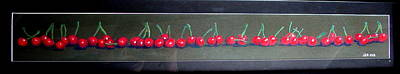 Cherry Trees Drawing - Cherries In A Row by Joseph Hawkins