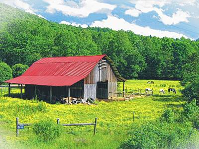 Photograph - Cherry Log Barn by Joe Duket