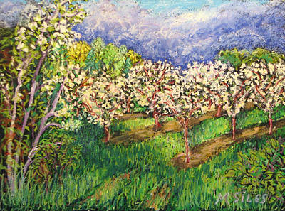 Cherry Orchard Glow Art Print by Madonna Siles