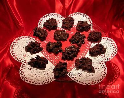 Cherry Pecan Chocolates Art Print by Judyann Matthews