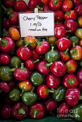 Cherry Peppers Print by Janice Rae Pariza