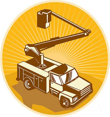 Car Photos Douglas Pittman - Cherry Picker Bucket Truck Access Equipment Retro by Aloysius Patrimonio