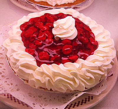 Cherry Pie With  Whip Cream Original by Amy Vangsgard