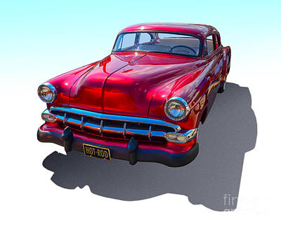 Photograph - Cherry Red Hot Rod by Anthony Sell