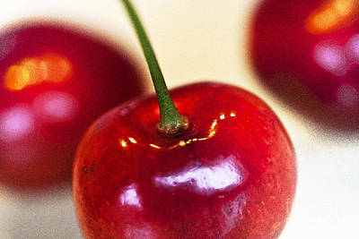 Cherry Still Life Art Print by Heiko Koehrer-Wagner