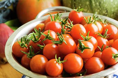 Zucchini Photograph - Cherry Tomatoes by Modesigns58