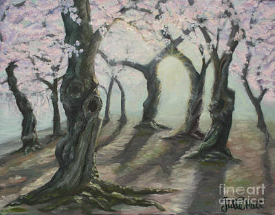 Tidal Basin Painting - Cherry Tree Arch by Julie Hart