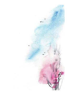 Cherry Tree Painting - Cherry Tree II by Sophia Rodionov