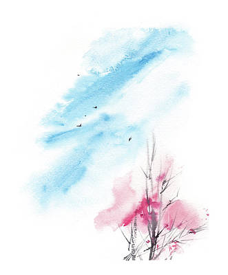 Cherry Tree Painting - Cherry Tree IIi by Sophia Rodionov