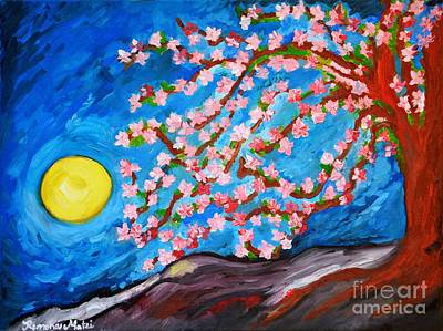 Painting - Cherry Tree In Blossom  by Ramona Matei