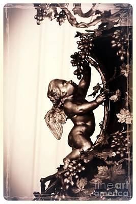 Cherub In Sepia Art Print by Carol Groenen