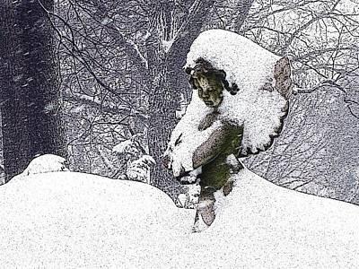 Cherub Of The Blizzard Art Print by Teak  Bird