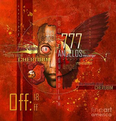 Modern Abstract Digital Art Digital Art Digital Art - Cherubim by Franziskus Pfleghart