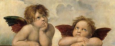 Raffaello Santi Painting - Cherubs - Detail From The Sistine Madonna by Raphael