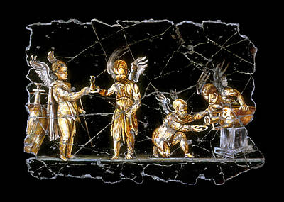 Ancient Painting - Cherubs Of Bacchus by Steve Bogdanoff