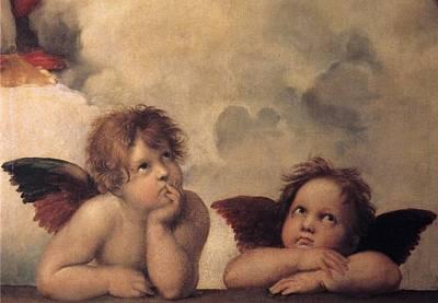Cherubs On The Sistine Chapel Art Print by Raphael