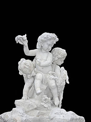 Photograph - Cherubs With Dog And Puppy by Kristin Elmquist