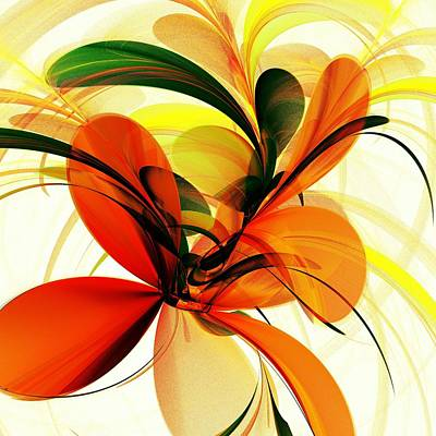 Abstract Flowers Digital Art - Chervona Ruta by Anastasiya Malakhova