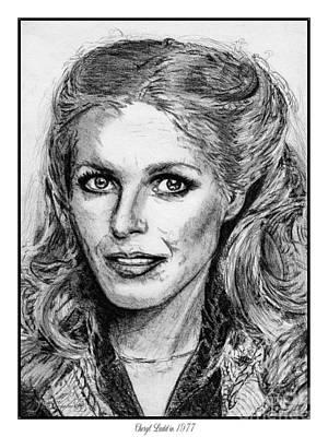 Famous Women Singers Drawing - Cheryl Ladd In 1977 by J McCombie