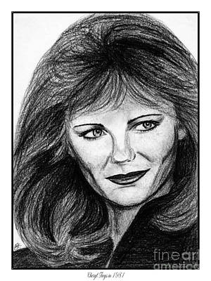 Drawing - Cheryl Tiegs In 1981 by J McCombie