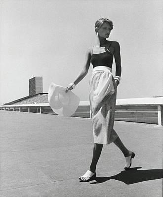 Cheryl Tiegs Wearing A Blassport Skirt Art Print