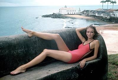 Cheryl Tiegs Wearing A Elio Berhanyer Swimsuit Art Print