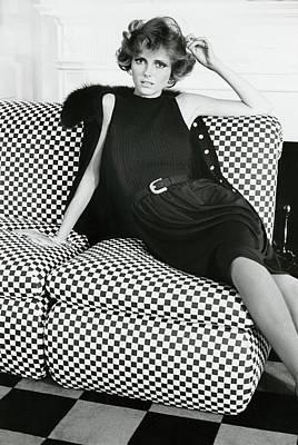 Cheryl Tiegs Wearing Pat Sandler Art Print
