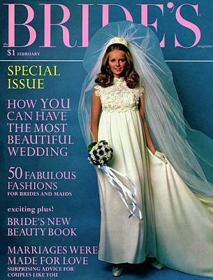 Weddings Photograph - Cheryl Tiegs Wears A Christos Of Galina Dress by Larry Couzens