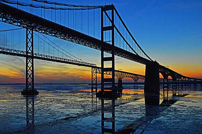 Photograph - Chesapeake Bay Bridge Reflections by Bill Swartwout