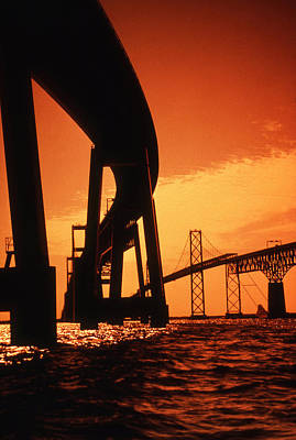 As Art Photograph - Chesapeake Bay Bridge by Skip Willits