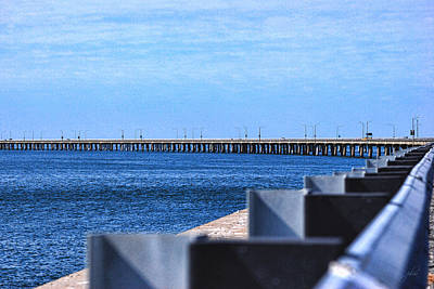 Photograph - Chesapeake Bay Bridge Tunnel I by Paulette B Wright