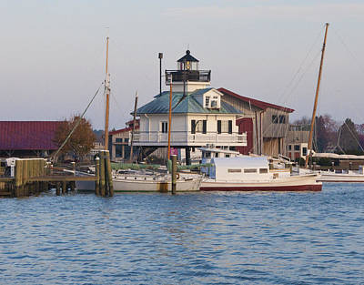 Lighthouse Digital Art - Chesapeake Bay - St Michaels Maryland Lighthouse by Bill Cannon