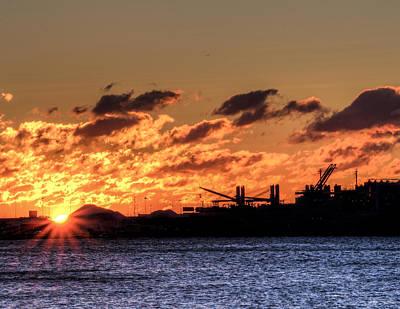Fell Digital Art - Chesapeake Bay Sunrise Over Baltimore by John Franco