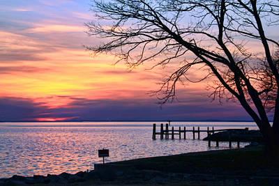 Photograph - Chesapeake Bay Sunset by Carolyn Derstine