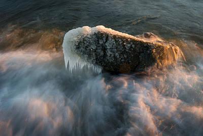 Maryland Photograph - Chesapeake Bay Waves by Benjamin DeHaven