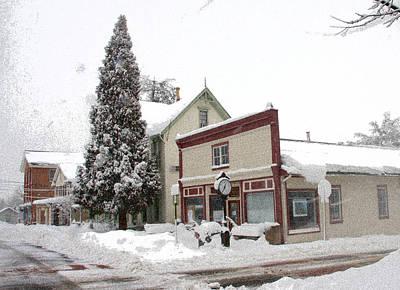 Snowmageddon Photograph - Chesapeake City Town Hall  by Janelle Bergen Higgins