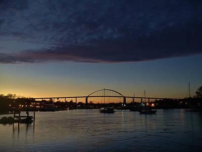 Photograph - Chesapeake City Twilight by Ed Sweeney