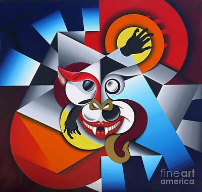 Surrealistic Painting - Cheshire Cat by David Azzarello