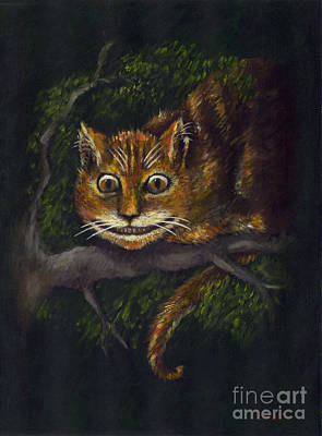 Alice In Wonderland Painting - Cheshire Cat by Suzette Broad
