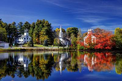 Cheshire County Reflections Art Print