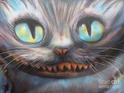 Cheshire Cat Painting - Cheshire by John Sodja