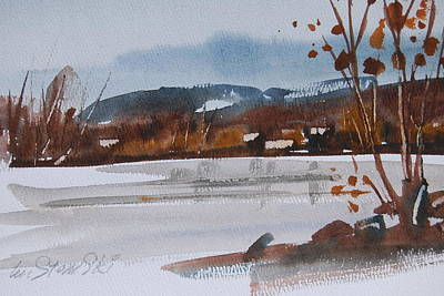 Painting - Cheshire Lake Study by Len Stomski