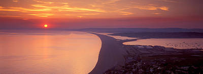 Chesil Beach At Sunset, Portland Print by Panoramic Images