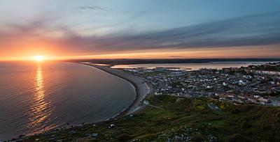 Chesil Beach Sunset  Print by Ollie Taylor