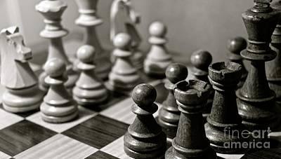 Photograph - Chess by David Warrington