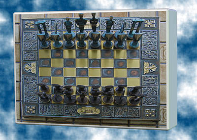 Digital Art - Chess For Astronauts by Val Byrne