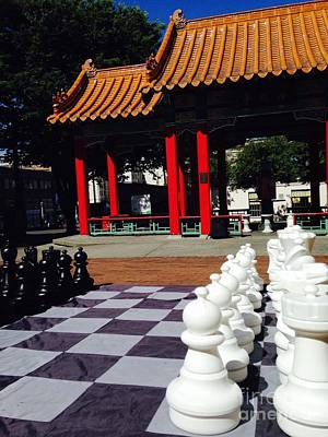 Photograph - Chess In China Town by LeLa Becker