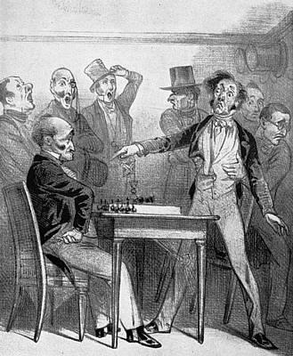 Chess Match, 1843 Art Print by Granger